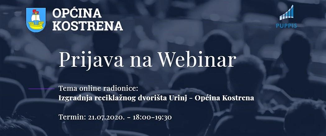"""Održana online radionica """"Izgradnja reciklažnog dvorišta Urinj – Općina Kostrena"""""""