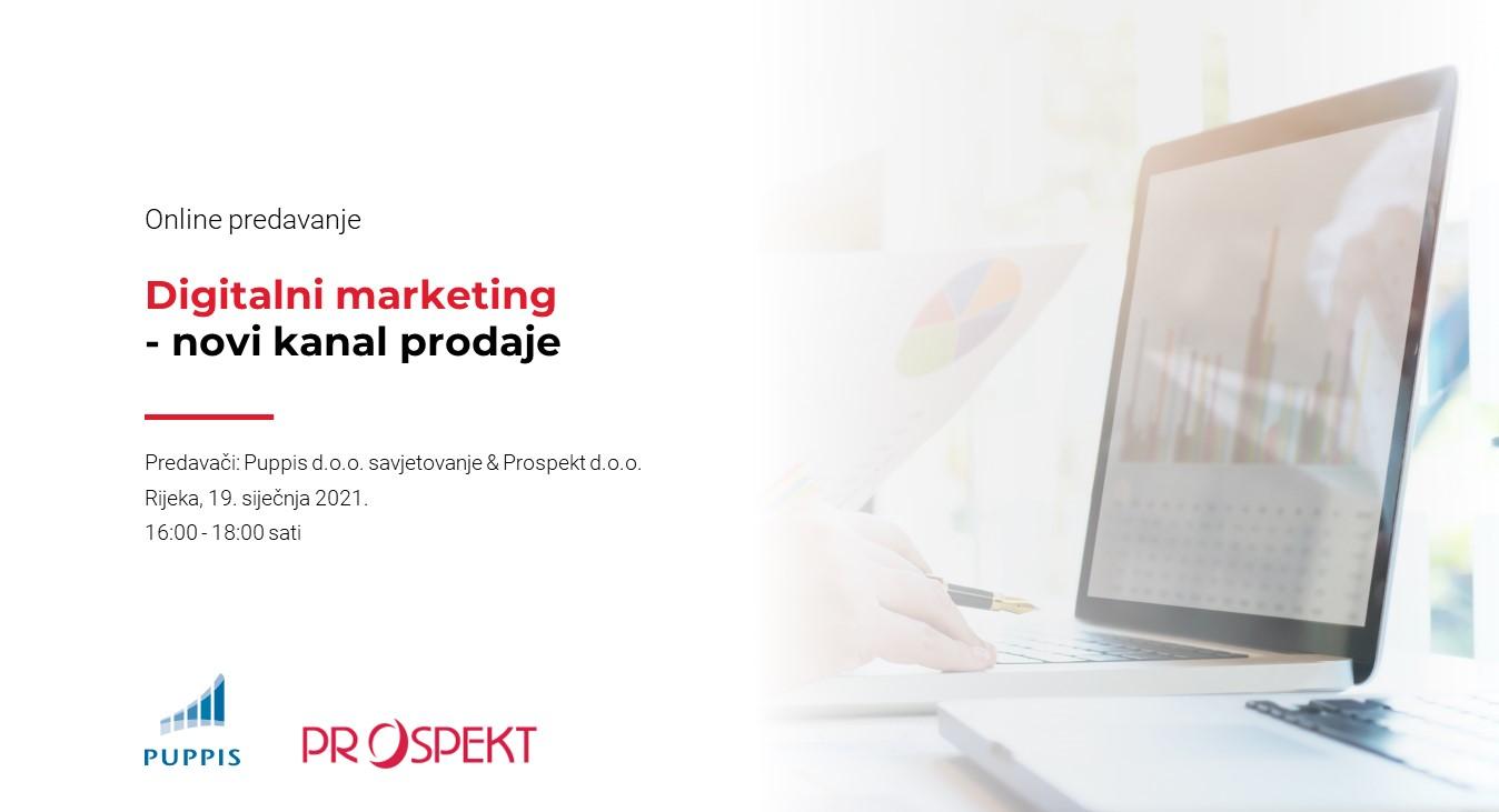 Održan webinar na temu Digitalni marketing – novi kanal prodaje
